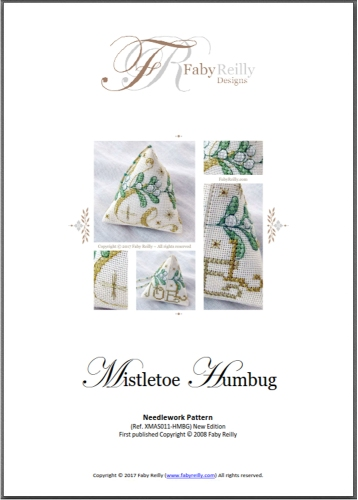 Chart Cover (Mistletoe Humbug) - Faby Reilly Designs
