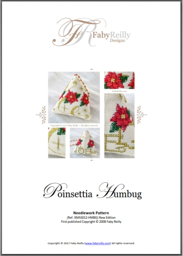 Chart Cover (Poinsettia Humbug) - Faby Reilly Designs