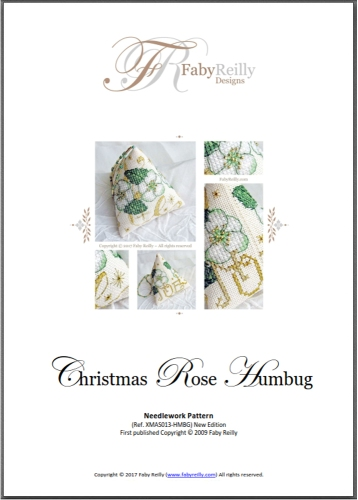 Chart Cover (Christmas Rose Humbug) - Faby Reilly Designs