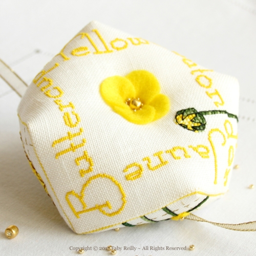 Buttercup Biscornu