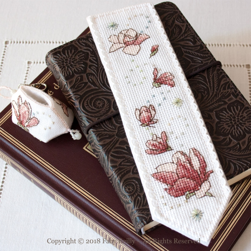 Magnolia Bookmark - Faby Reilly Designs