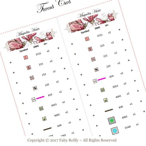 Magnolia Heart - Thread Card