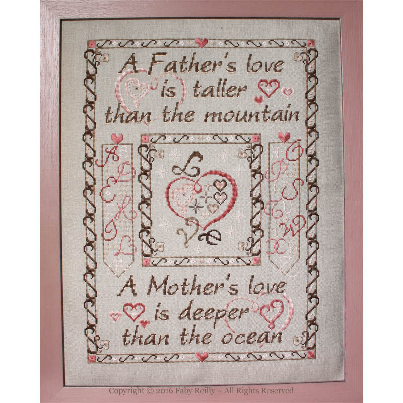 Father and Mother's Love Sampler