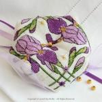 Purple Iris Biscornu
