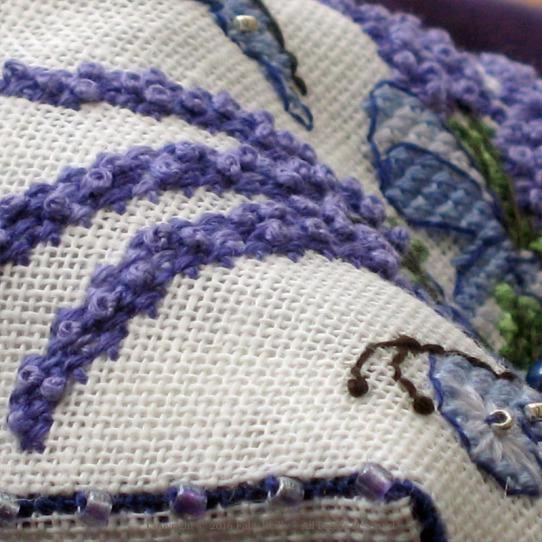 Lavender Biscornu