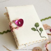 Plum Orchid Needlebook