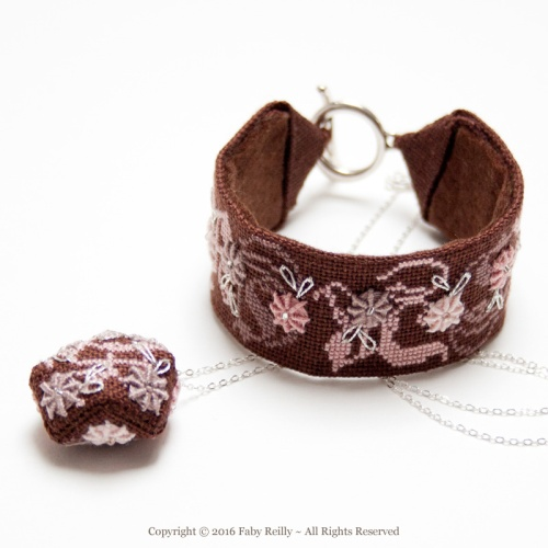 Rose-Chocolat Stitched Jewellery