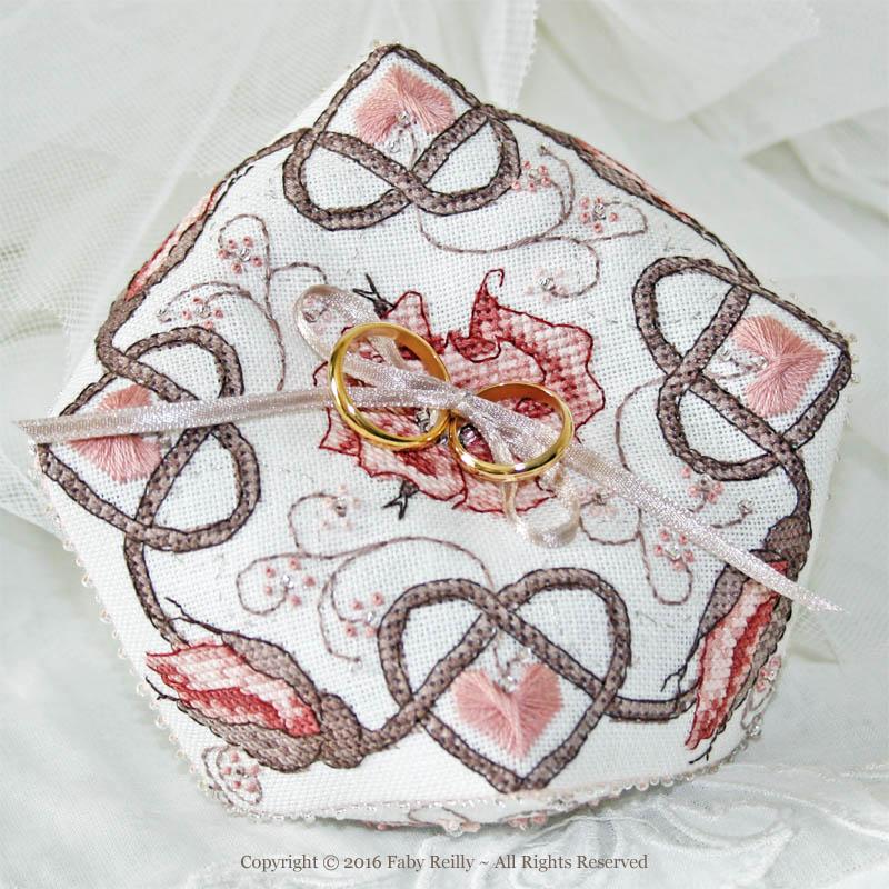 Sepia Rose Biscornu