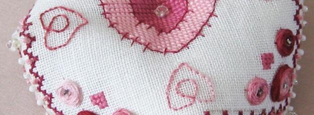 Heart Biscornu - Faby Reilly Designs