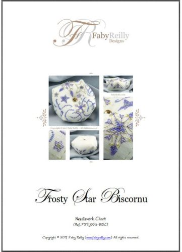 Frosty Star Biscornu - Faby Reilly Designs