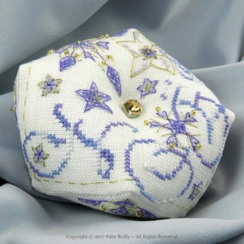 Frosty Star Biscornu - Faby Reilly Designs