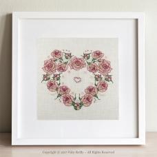 Once Upon a Rose Heart - framed