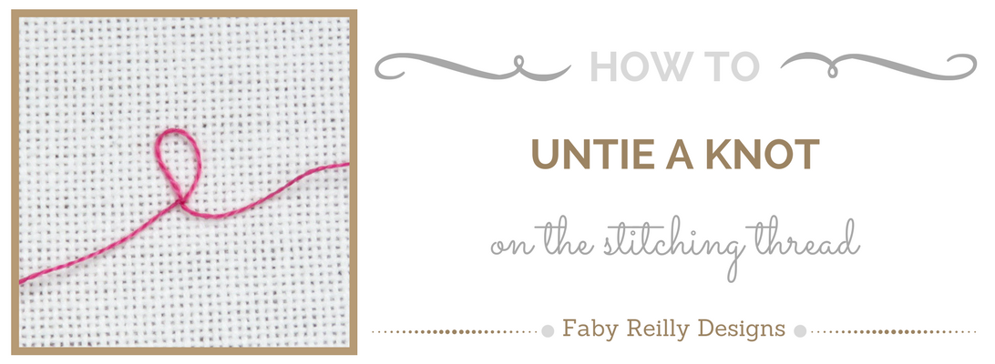 Untying a knot tutorial - Faby Reilly Designs