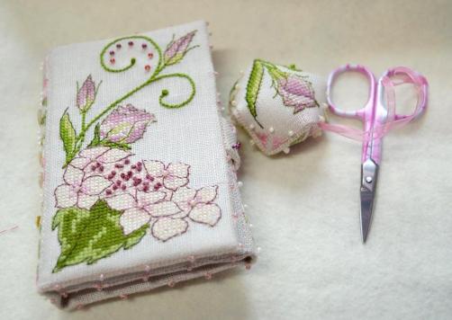 Lizzie Wallet stitched by Margaret