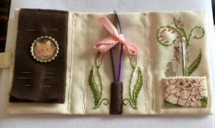 Lizzie Wallet stitched by Sharon